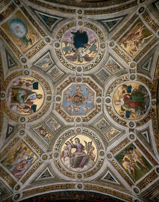 Станца делла Сеньятура: Роспись потолка. Рафаэль Санти