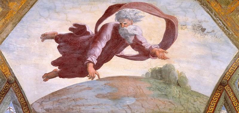 Бог отделяет землю от воды. Рафаэль Санти