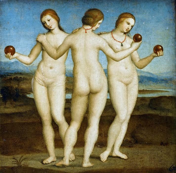 Three Graces. Raffaello Sanzio da Urbino) Raphael (Raffaello Santi