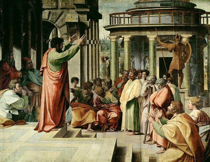 St Paul Preaching at Athens. Raffaello Sanzio da Urbino) Raphael (Raffaello Santi
