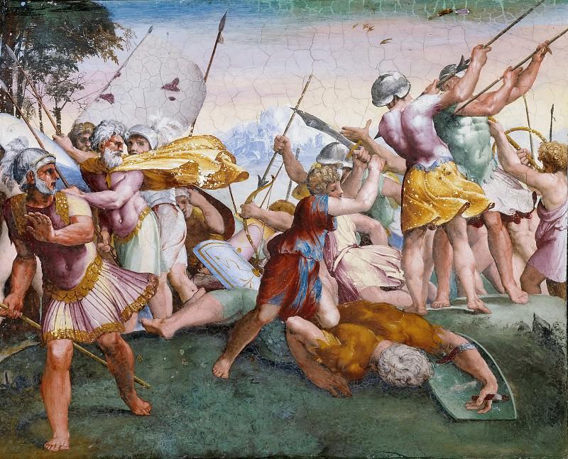 David Kills Goliath. Raffaello Sanzio da Urbino) Raphael (Raffaello Santi