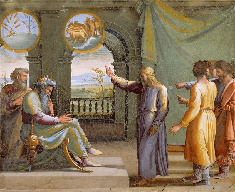 Joseph Interprets the Pharaoh´s Dream. Raffaello Sanzio da Urbino) Raphael (Raffaello Santi