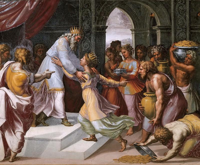 Соломон и царица Савская. Рафаэль Санти