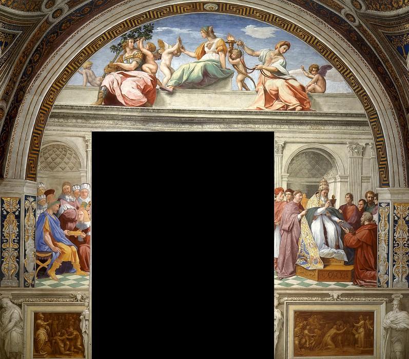 Stanza della Segnatura: Cardinal and Theological Virtues. Raffaello Sanzio da Urbino) Raphael (Raffaello Santi