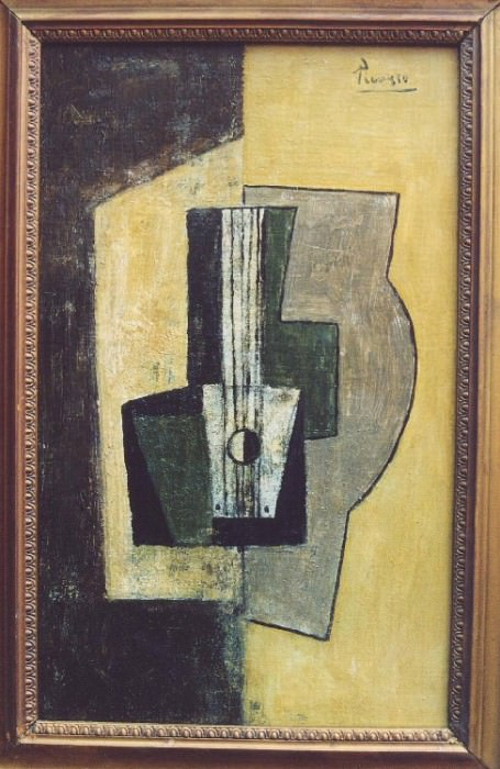 1918 Nature morte Е la guitare. Pablo Picasso (1881-1973) Period of creation: 1908-1918
