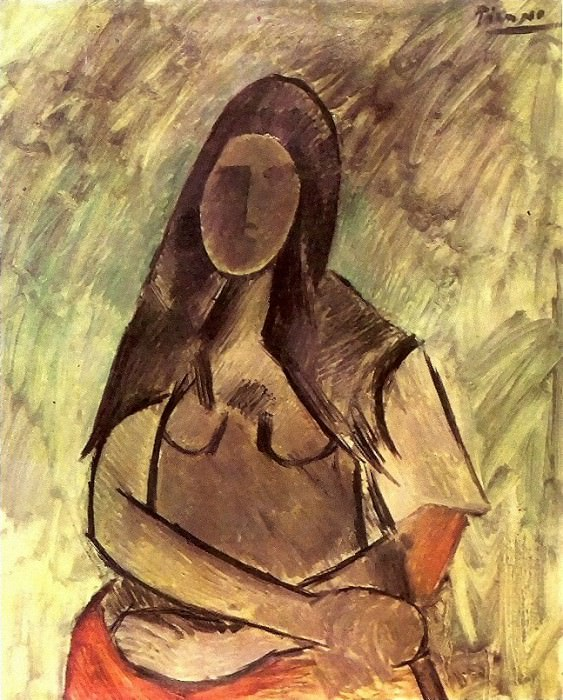1909 Femme assise (Femme au chГle). Pablo Picasso (1881-1973) Period of creation: 1908-1918