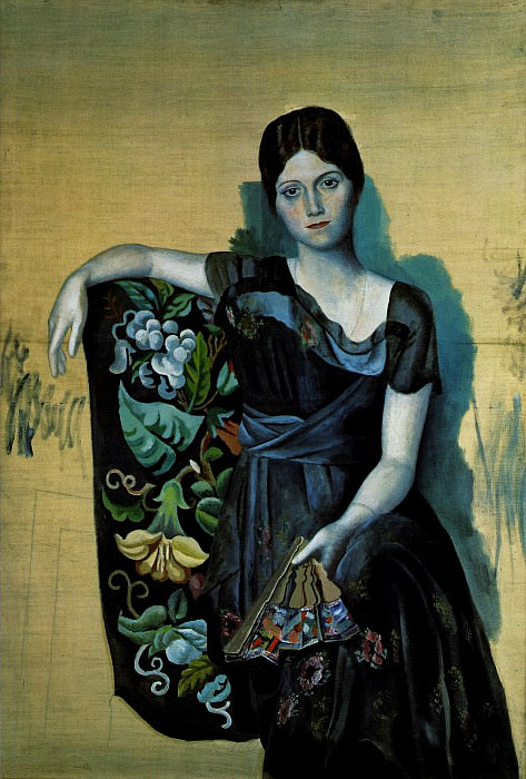 1917 Portrait dOlga dans un fauteuil1. Pablo Picasso (1881-1973) Period of creation: 1908-1918