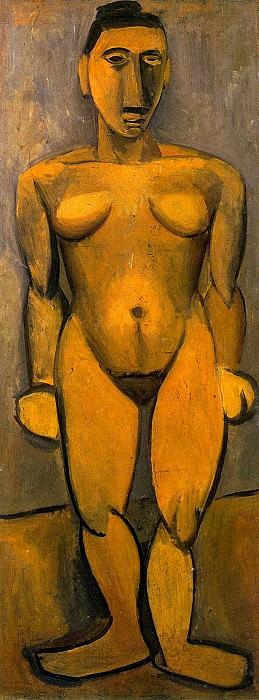 1908 Nu debout de face. Pablo Picasso (1881-1973) Period of creation: 1908-1918