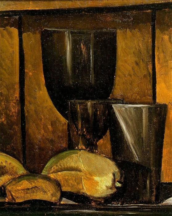 1909 Verres et fruits. Pablo Picasso (1881-1973) Period of creation: 1908-1918