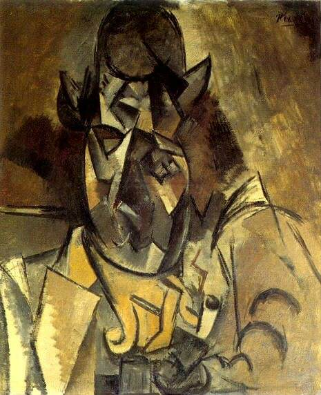 1909 Homme au chapeau. Pablo Picasso (1881-1973) Period of creation: 1908-1918 (Portrait de Braque)