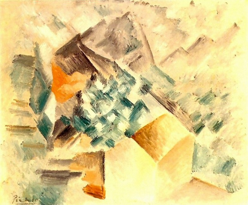1909 Paysage (La montagne de Santa Barbara). Pablo Picasso (1881-1973) Period of creation: 1908-1918