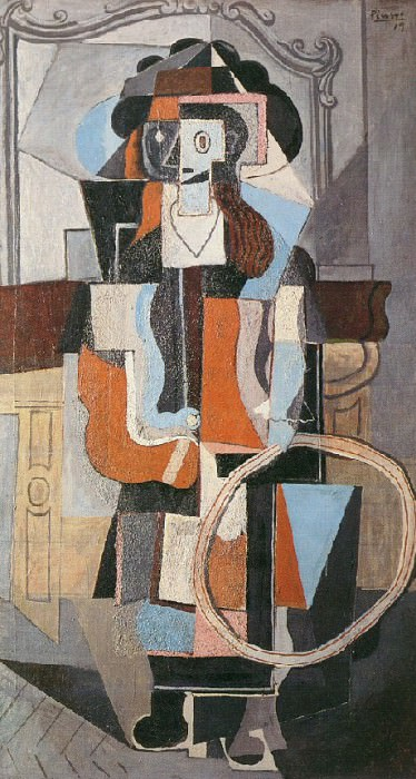1918 Fillette au cerceau. Pablo Picasso (1881-1973) Period of creation: 1908-1918