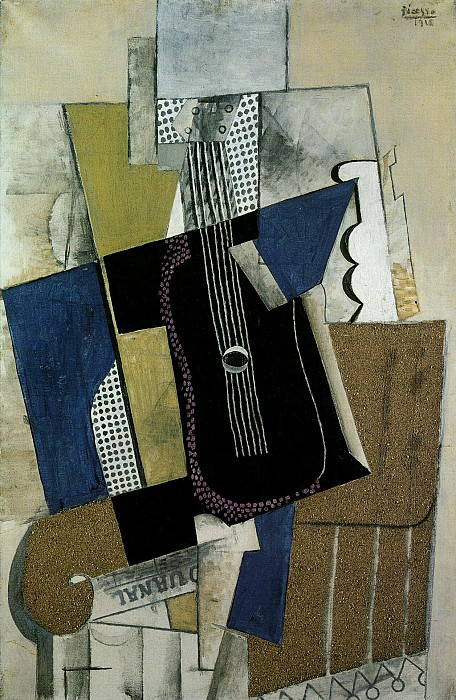 1915 Guitare et journal. Pablo Picasso (1881-1973) Period of creation: 1908-1918