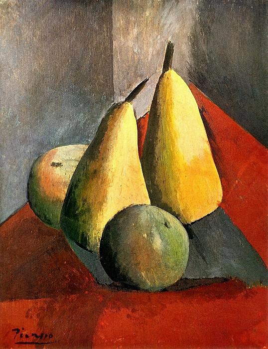 1908 Poires et pommes. Pablo Picasso (1881-1973) Period of creation: 1908-1918