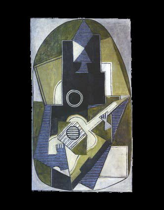 1918 lhomme Е la guitare. Pablo Picasso (1881-1973) Period of creation: 1908-1918