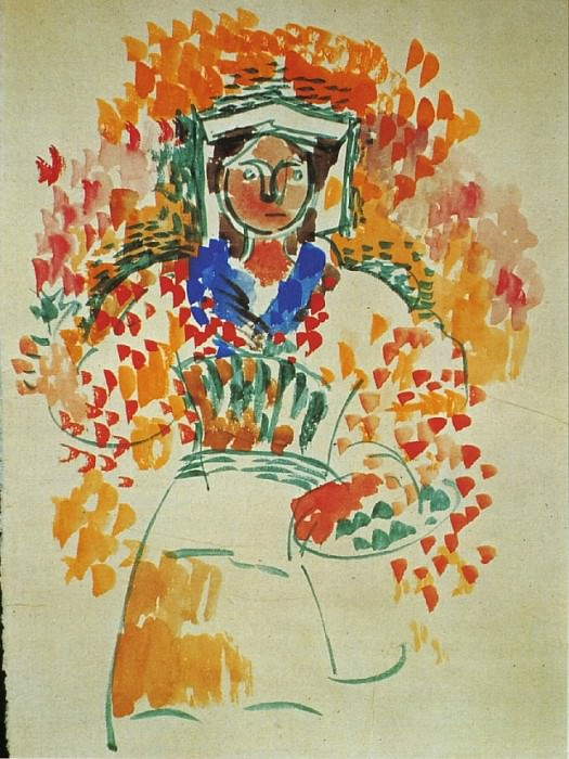 1917 Femme2. Pablo Picasso (1881-1973) Period of creation: 1908-1918