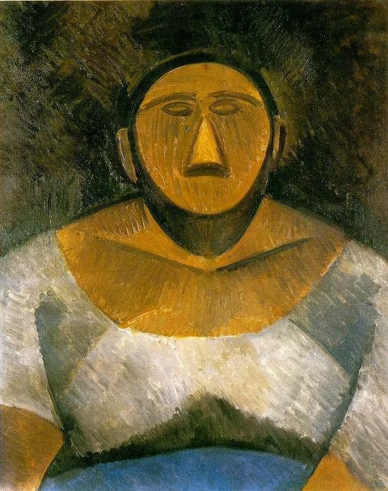 1908 Buste de la fermiКre. Пабло Пикассо (1881-1973) Период: 1908-1918