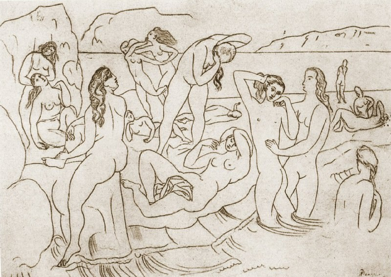 1918 Baigneuses. Pablo Picasso (1881-1973) Period of creation: 1908-1918