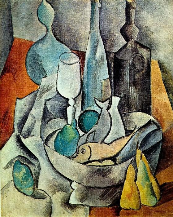 1908 Poissons et bouteilles. Pablo Picasso (1881-1973) Period of creation: 1908-1918