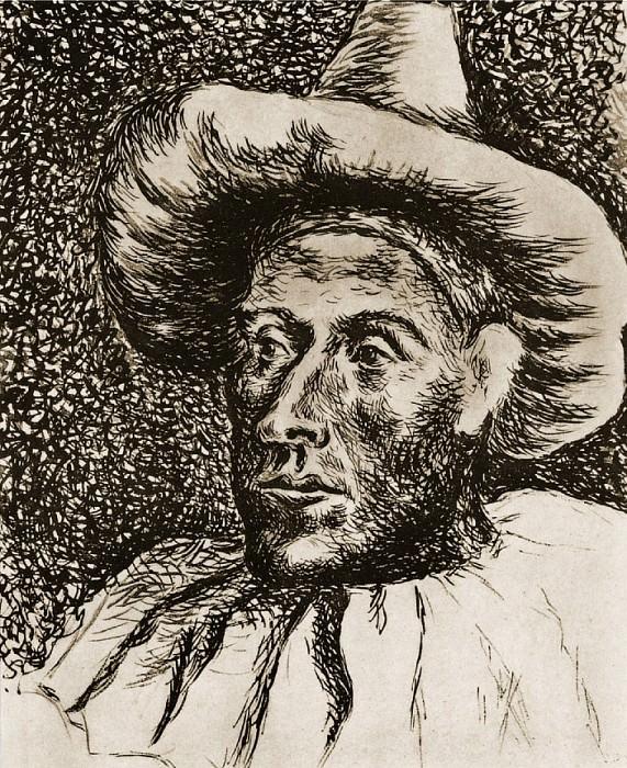 1917 TИte de Pierrot. Pablo Picasso (1881-1973) Period of creation: 1908-1918