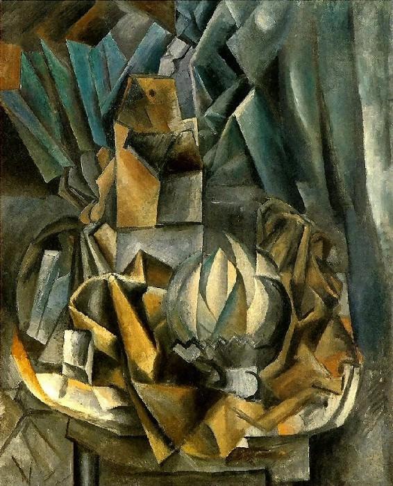 1909 Рventail, boМte de sel et melon. Pablo Picasso (1881-1973) Period of creation: 1908-1918