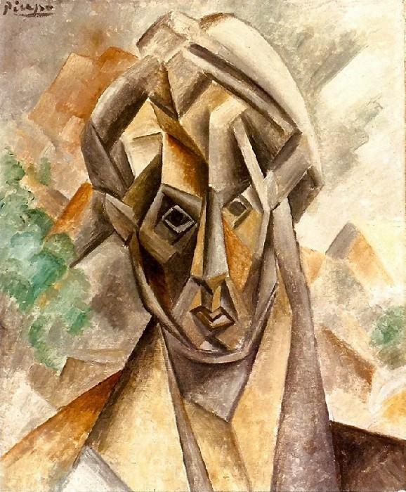 1909 TИte de femme. Pablo Picasso (1881-1973) Period of creation: 1908-1918
