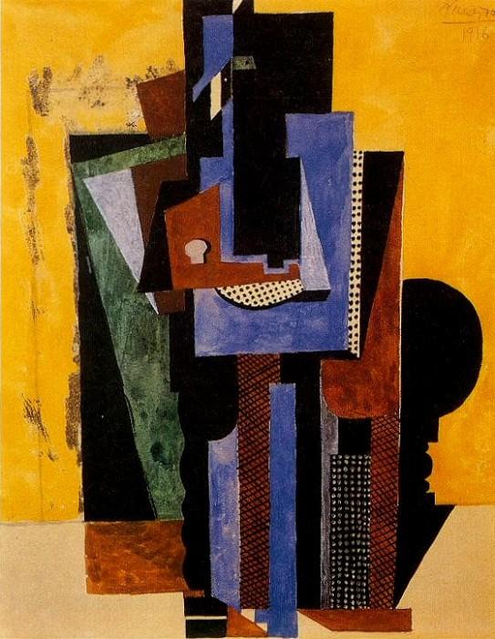 1916 Homme aux mains croisВes accoudВ Е une table. Pablo Picasso (1881-1973) Period of creation: 1908-1918