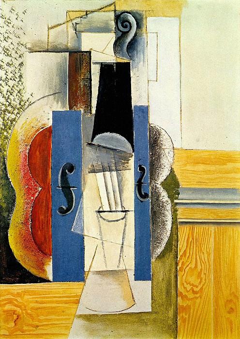 1913 Violon accrochВ au mur. Pablo Picasso (1881-1973) Period of creation: 1908-1918