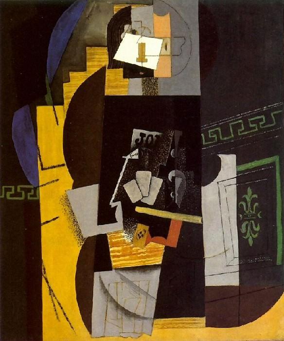 1913 Joueur de cartes1. Pablo Picasso (1881-1973) Period of creation: 1908-1918