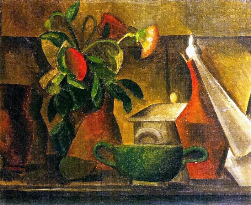 1908 Nature morte au bouquet de fleurs. Пабло Пикассо (1881-1973) Период: 1908-1918