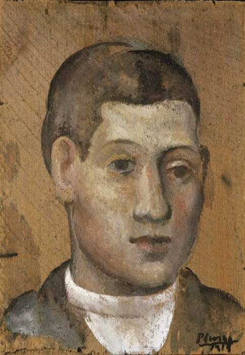 1915 Portrait dun jeune homme. Pablo Picasso (1881-1973) Period of creation: 1908-1918