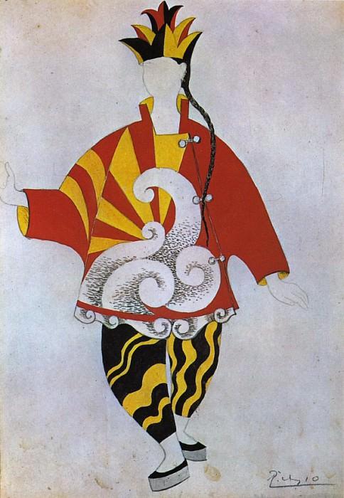 1917 Parade - projet de costume pour le prestidigitateur chinois. Пабло Пикассо (1881-1973) Период: 1908-1918