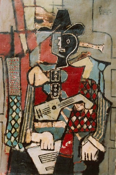 1918 Arlequin1. Pablo Picasso (1881-1973) Period of creation: 1908-1918