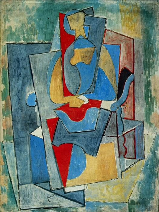1917 Femme assise dans un fauteuil rouge. Pablo Picasso (1881-1973) Period of creation: 1908-1918