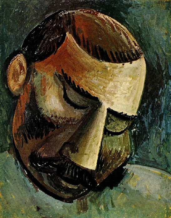 1908 TИte dhomme2. Pablo Picasso (1881-1973) Period of creation: 1908-1918