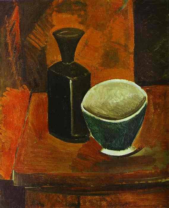 1908 Bol vert et bouteille noire. Пабло Пикассо (1881-1973) Период: 1908-1918