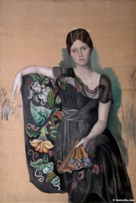 1917 Portrait dOlga dans un fauteuil. JPG. Пабло Пикассо (1881-1973) Период: 1908-1918