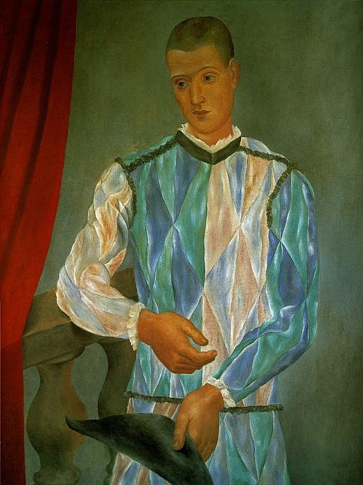 1917 Larlequin de Barcelone. Pablo Picasso (1881-1973) Period of creation: 1908-1918