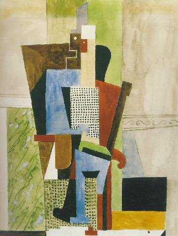 1918 Homme assis. Pablo Picasso (1881-1973) Period of creation: 1908-1918