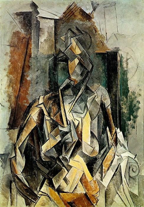 1909 Femme assise dans un fauteuil en mangeant des fleurs. Pablo Picasso (1881-1973) Period of creation: 1908-1918