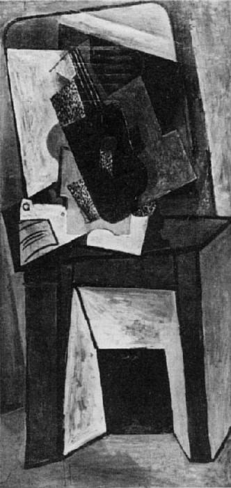 1916 Guitare et partition sur une cheminВe. Пабло Пикассо (1881-1973) Период: 1908-1918