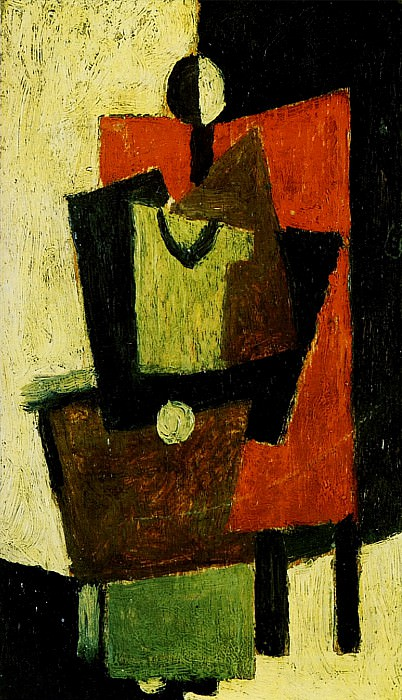 1918 Femme assise dans un fauteuil rouge. Pablo Picasso (1881-1973) Period of creation: 1908-1918