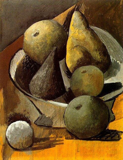 1908 Compotier aux poires et pommes. Pablo Picasso (1881-1973) Period of creation: 1908-1918
