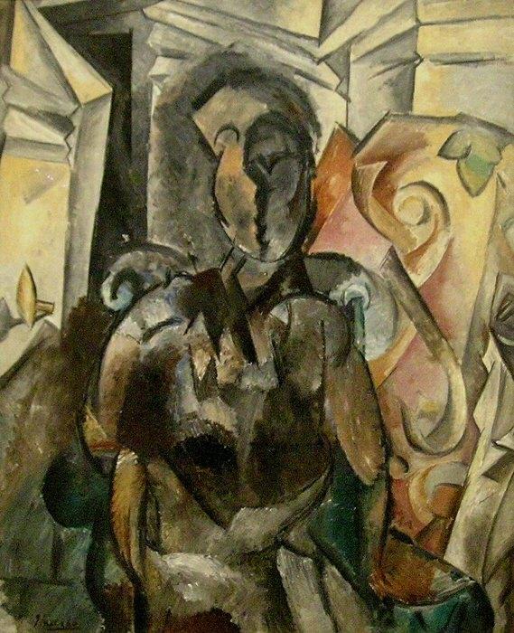 1909 Femme assise dans un fauteuil2. Pablo Picasso (1881-1973) Period of creation: 1908-1918