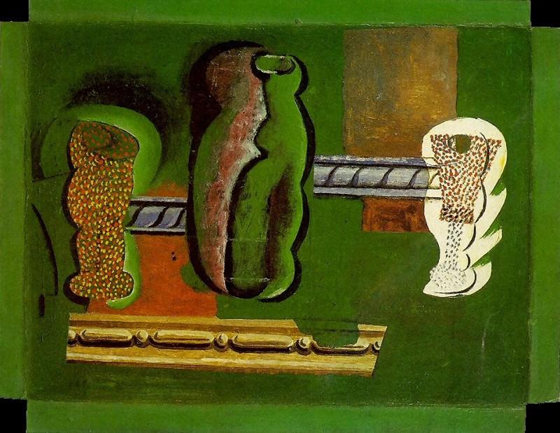 1914 Verres et bouteilles. Pablo Picasso (1881-1973) Period of creation: 1908-1918
