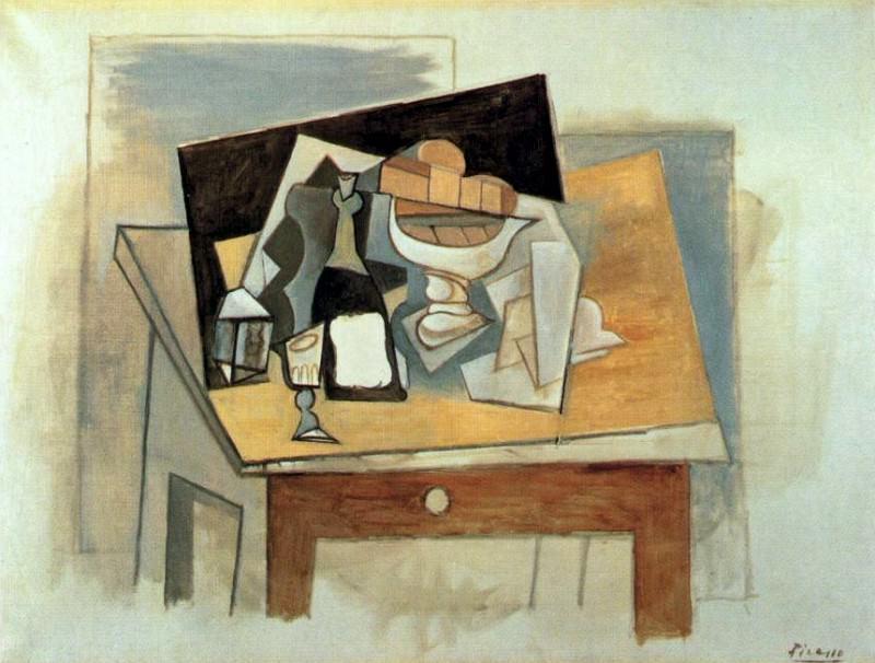 1917 Verre et compotier sur une table. Pablo Picasso (1881-1973) Period of creation: 1908-1918