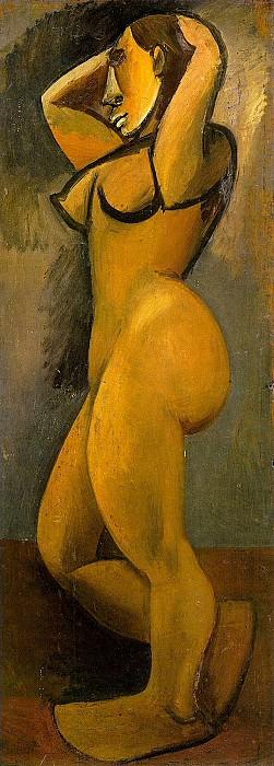 1908 Nu aux bras levВs de profil. Pablo Picasso (1881-1973) Period of creation: 1908-1918