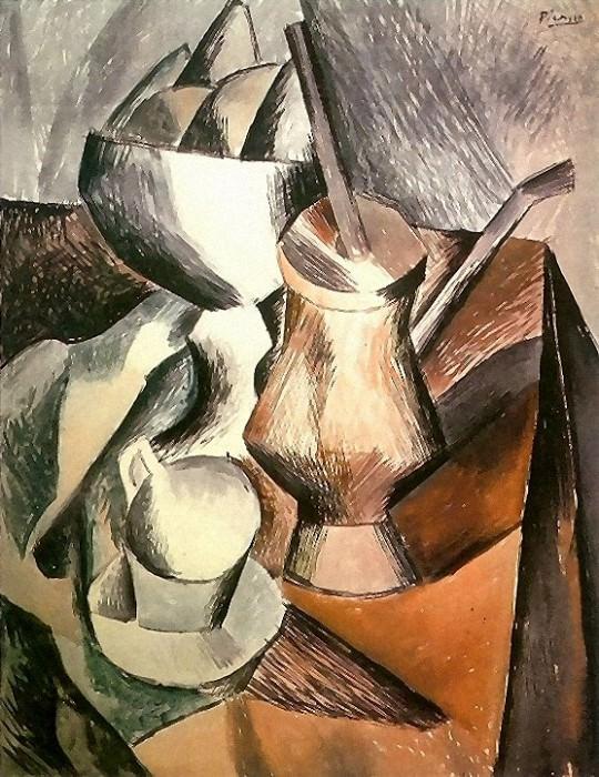 1909 Nature morte Е la chocolatiКre. Pablo Picasso (1881-1973) Period of creation: 1908-1918