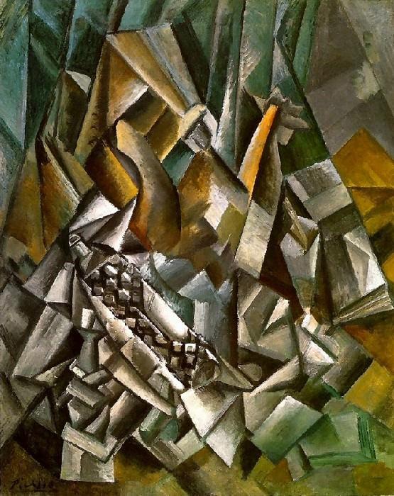1909 Nature morte aux bouteilles de liqueur. Pablo Picasso (1881-1973) Period of creation: 1908-1918