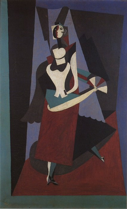 1917 Blanquita Suаrez Е lВventail. Pablo Picasso (1881-1973) Period of creation: 1908-1918